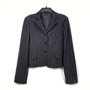 BCBG Maxazria black striped blazer jacket size S